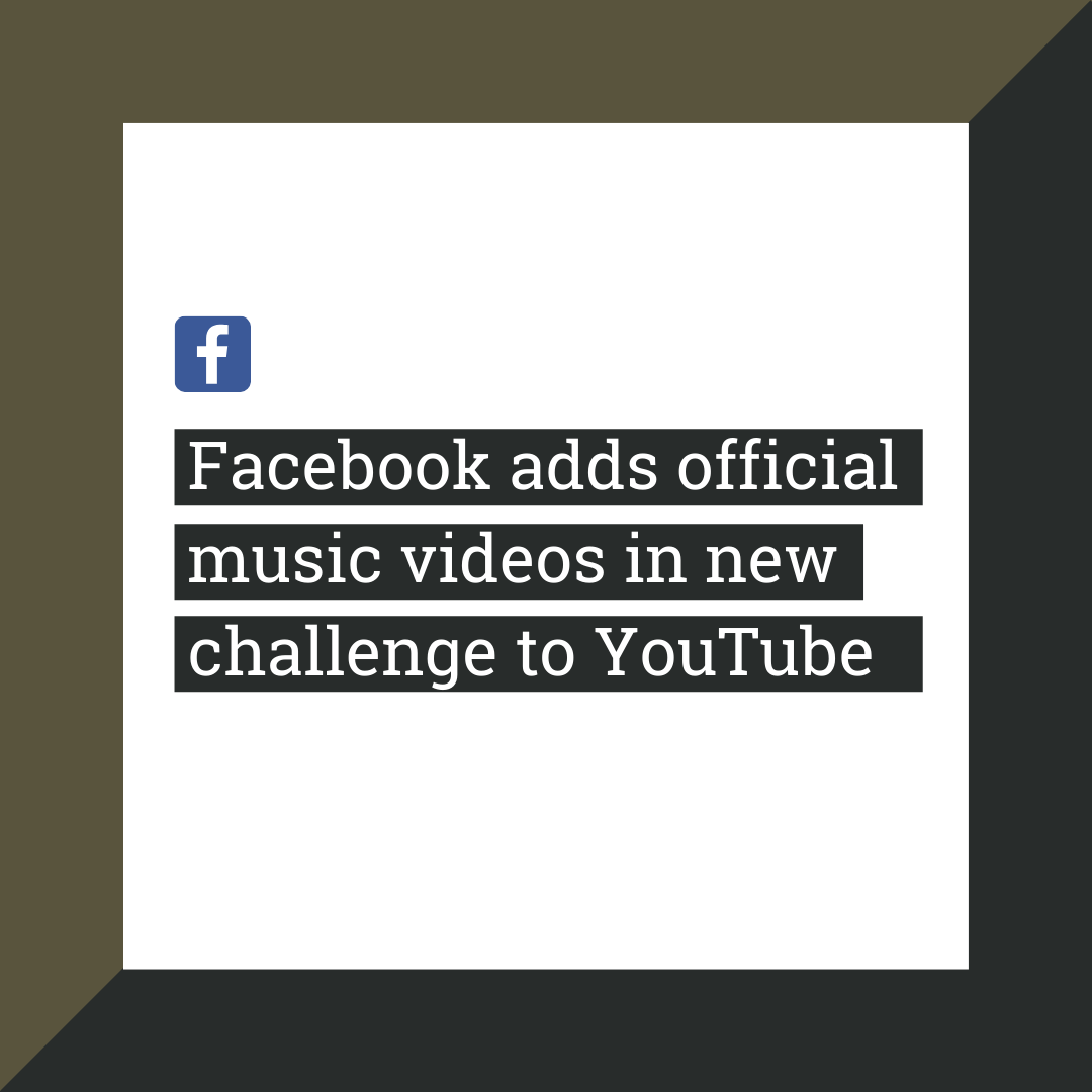 Facebook Adds Official Music Videos