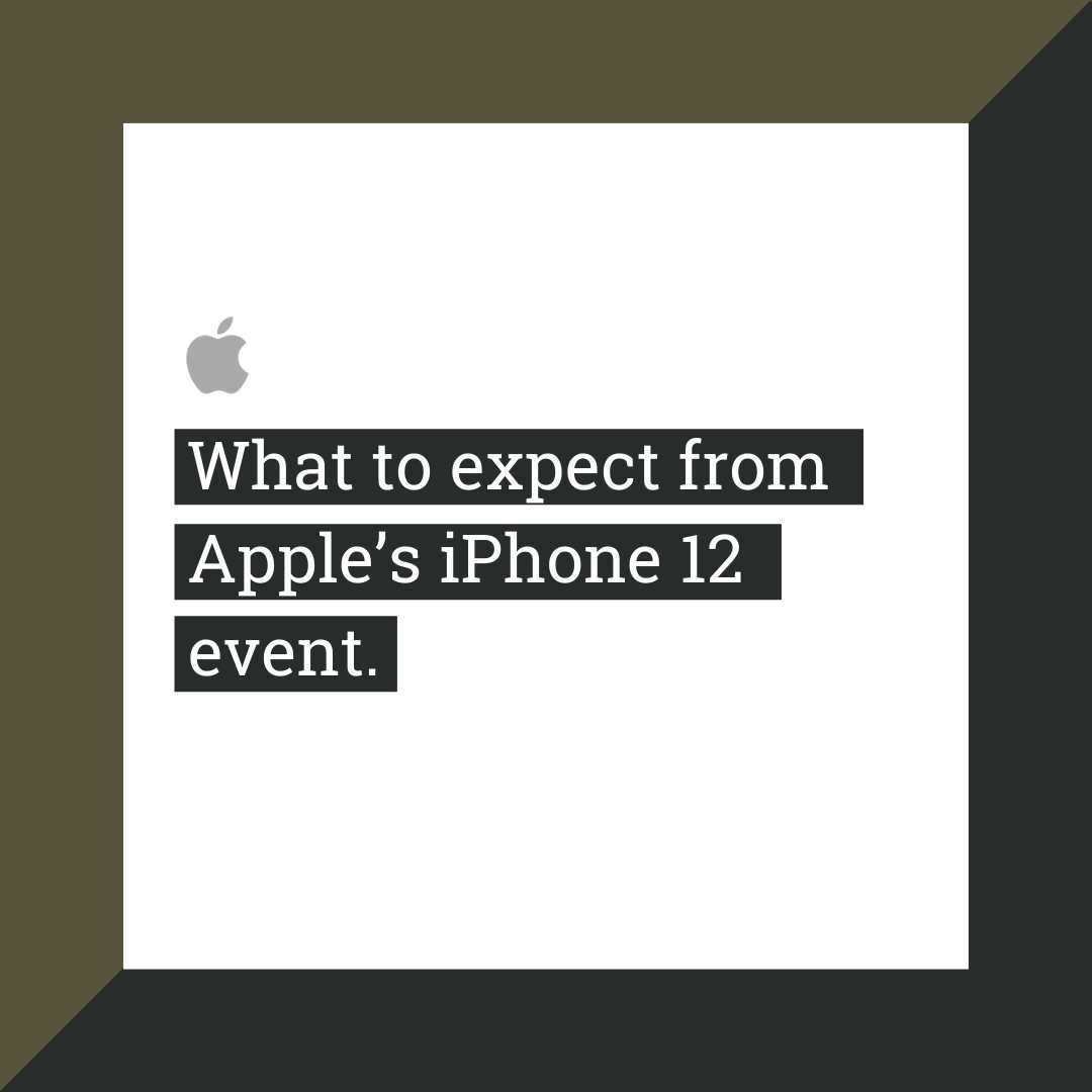 Apple's iPhone 12 event