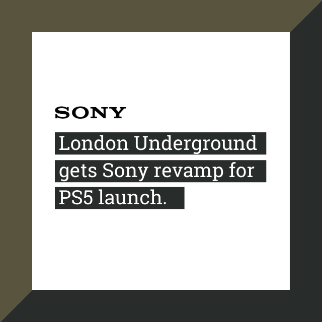 London Underground gets Sony revamp for PS5 launch